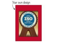 Chocolade medaille met eigen ontwerp opdruk