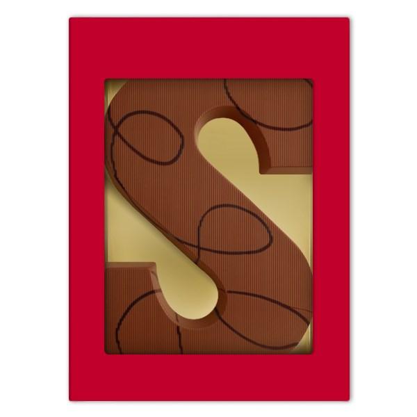 Luxe melkchocoladeletter S met Nutella vulling