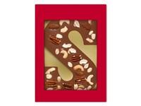 Luxe melkchocoladeletter S met notenmix