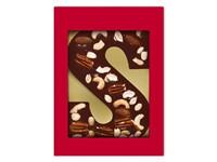 Luxe pure chocoladeletter S met notenmix