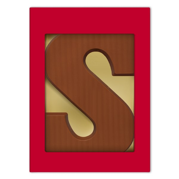 Letter S melkchocolade Suikervrij