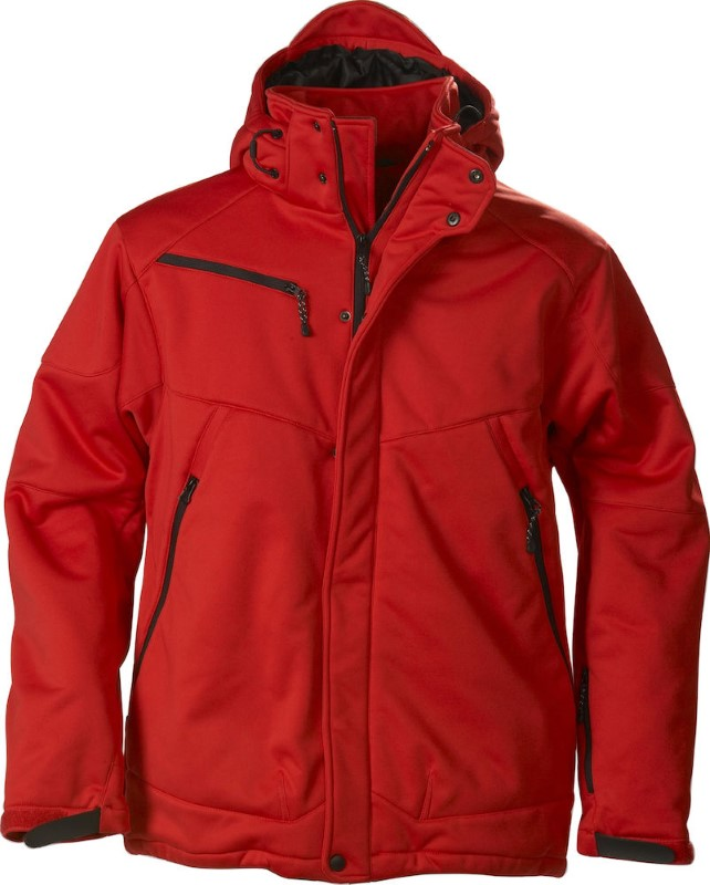 Printer Skeleton Softshell Jacket Red S