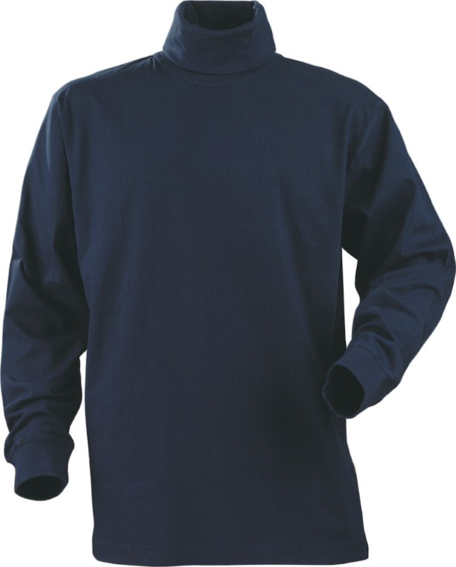 Printer Rollerneck T-shirt L/S Navy XL