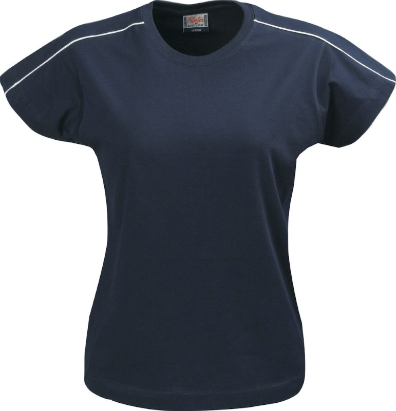 Printer Bike lady t-shirt Navy M