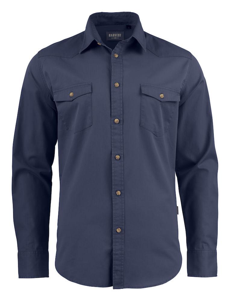 Harvest Treemore Shirt Navy 3XL