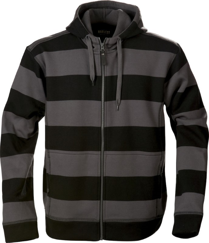Harvest Prescott hood men Black/Antra XXXL
