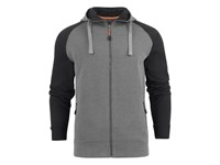Chris Hoodie Grey melange/Black XXL