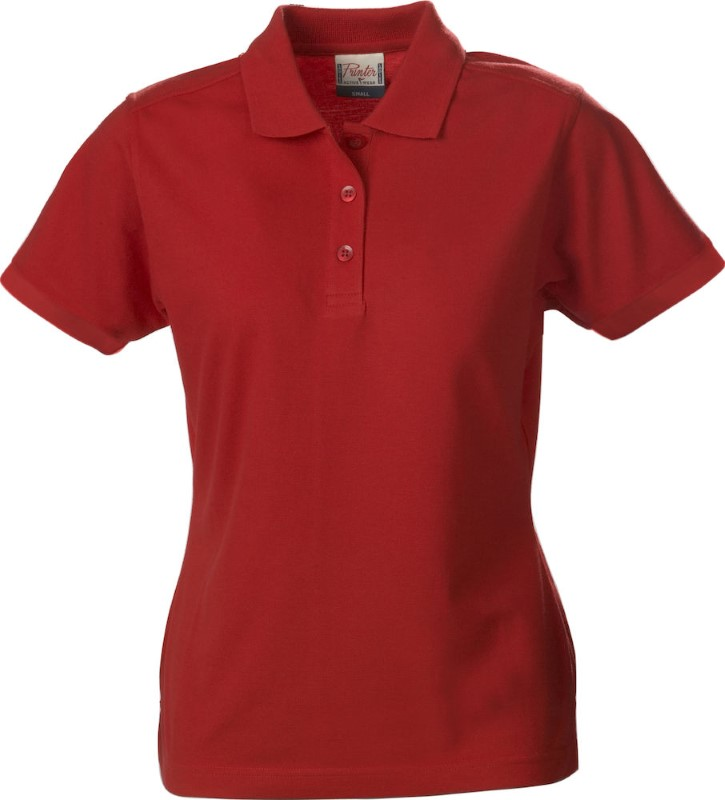 Printer Surf Pro Lady polo pique Red S