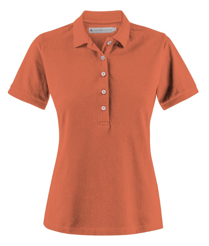 Harvest Sunset Strech Polo Lady Orange Vinta L