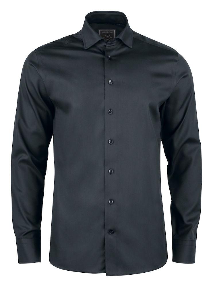 J. Harvest & Frost Black Bow 60 Slim Shirt