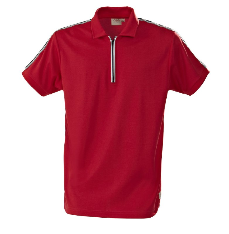 Printer Rugby Functional Polo Red XXL