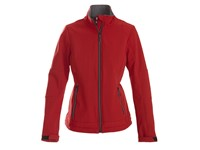 Printer Trial Lady Softshell Jacket red S
