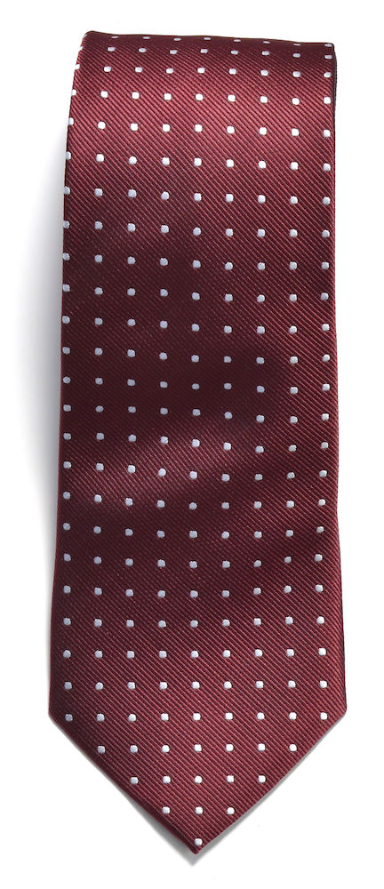 Tie dot Wine/White ONE
