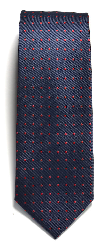 Tie dot Navy/Red ONE