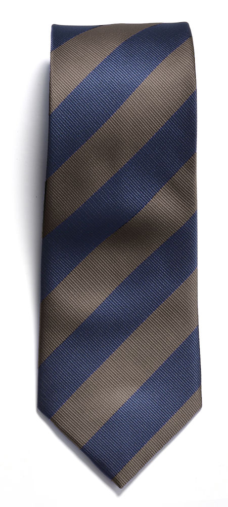 Tie regimental stripe Navy/Brown ONE
