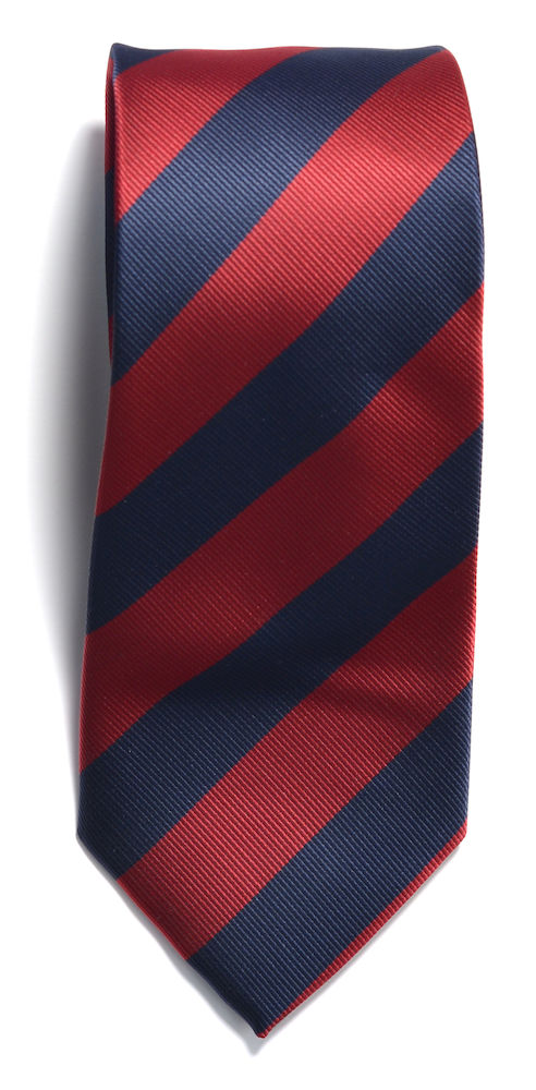 Tie regimental stripe Navy/Red ONE