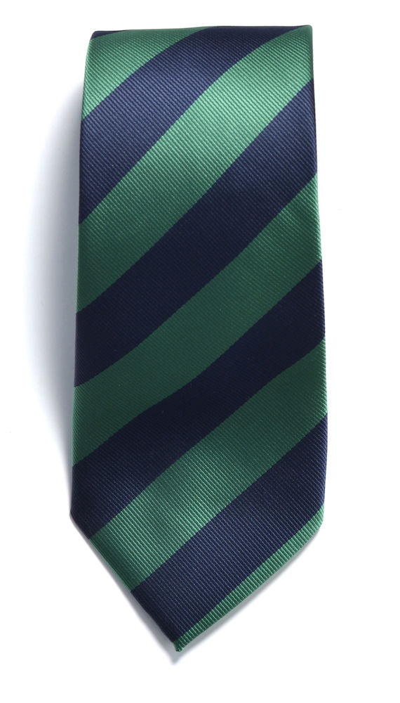 Tie regimental stripe Navy/Green ONE