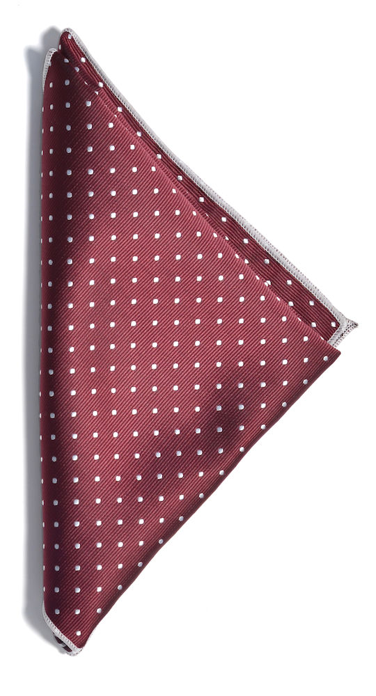 Handkerchief microfiber Wine/White ONE