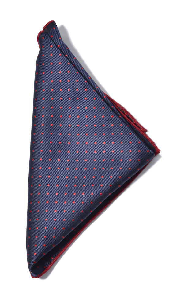 Handkerchief microfiber Navy/Red ONE