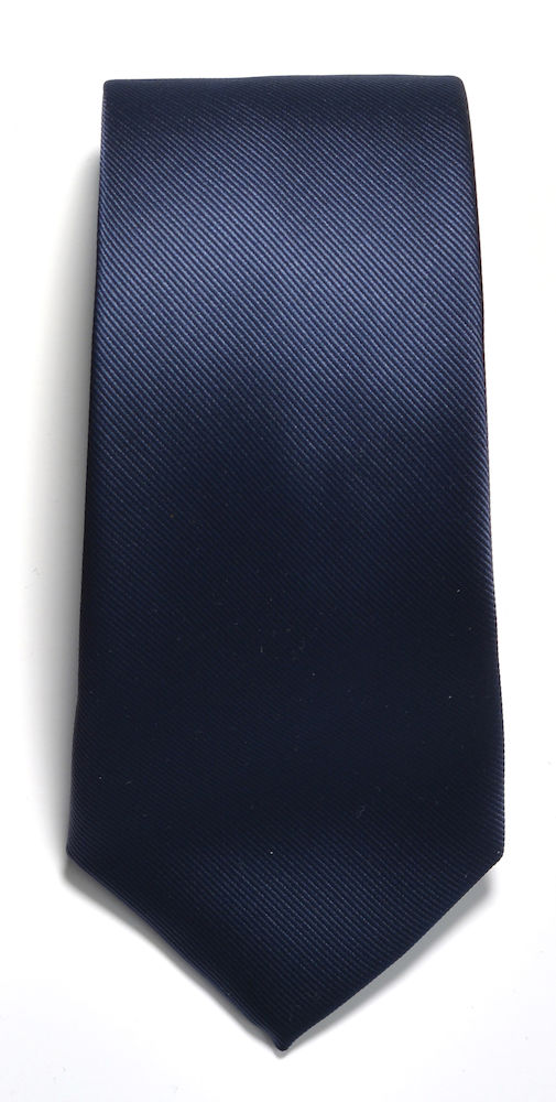 Tie plain Navy ONE