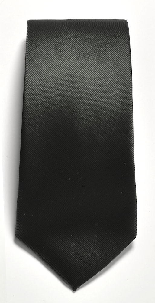 Tie plain Black ONE