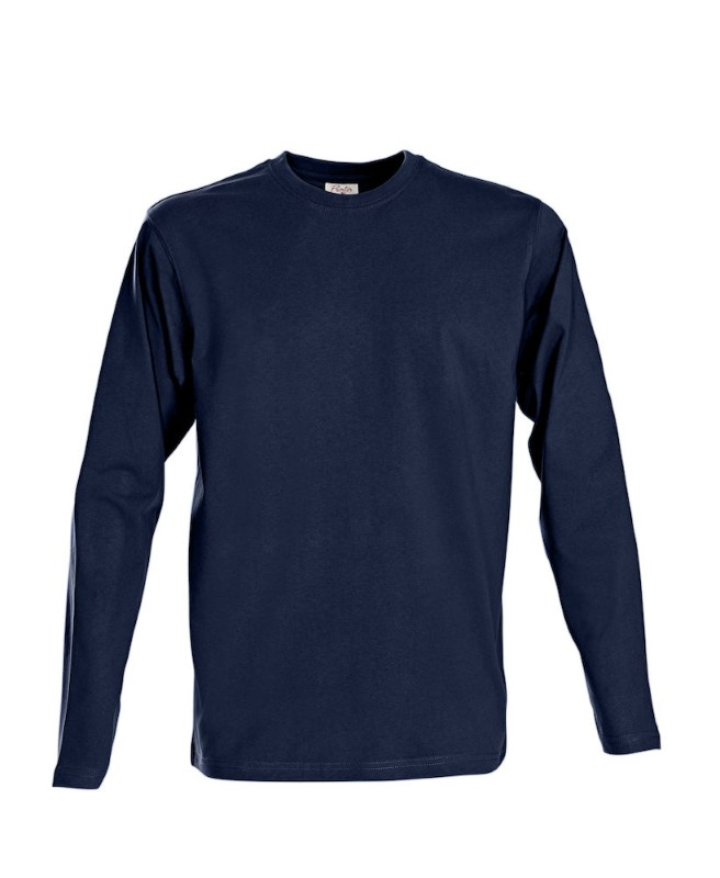 Printer Heavy T L/S Navy 3XL