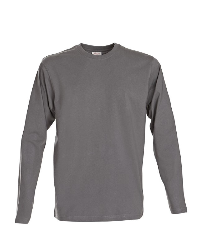 Printer Heavy T L/S Steel grey XL