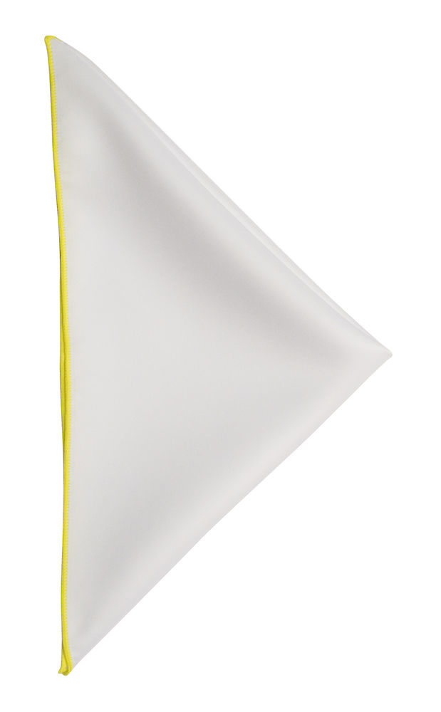 Handkerchief White/Yellow ONE