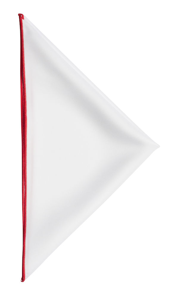 Handkerchief White/Red ONE