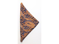Handkerchief Paisley Orange ONE