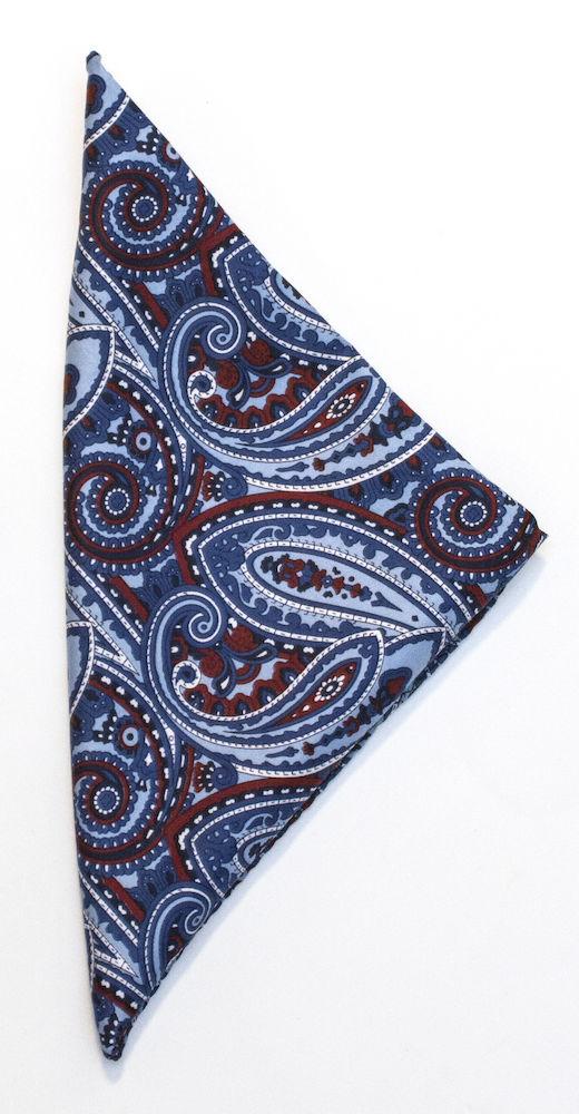 Handkerchief Paisley Blue ONE