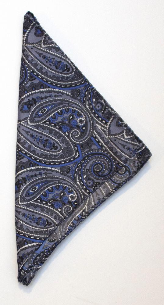 Handkerchief Paisley Grey ONE