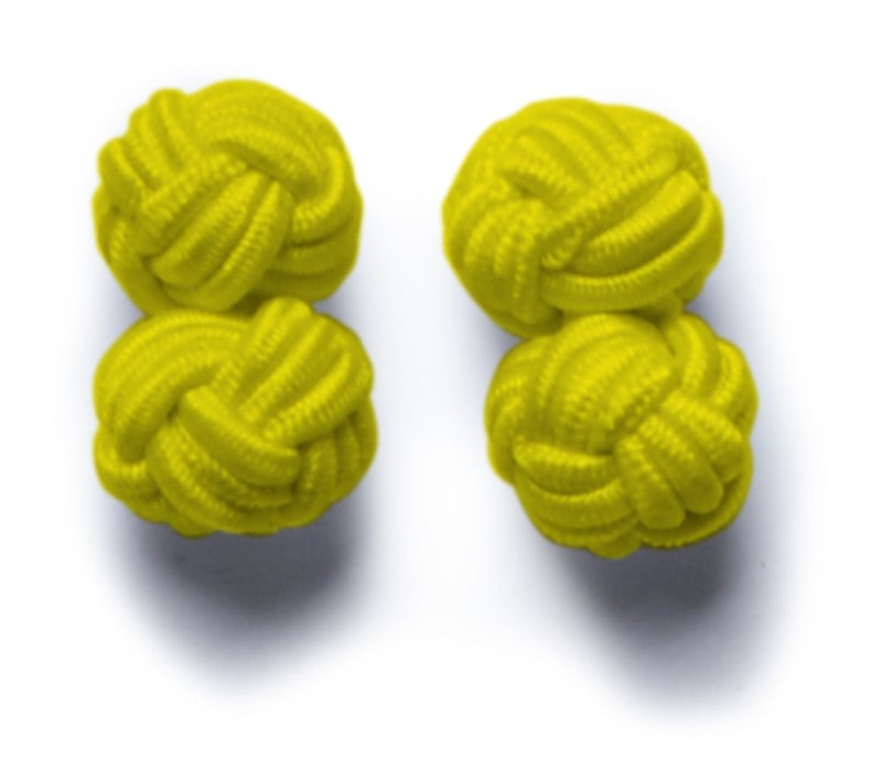 Cufflinks Yellow ONE