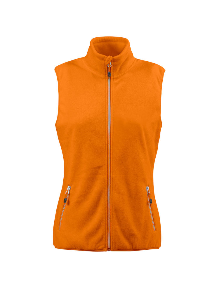Printer Sideflip Lady Fleece Vest Bright orang XXL