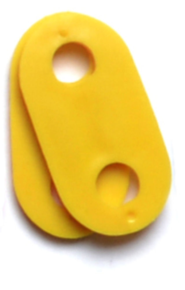 Drawstring stopper Yellow ONE