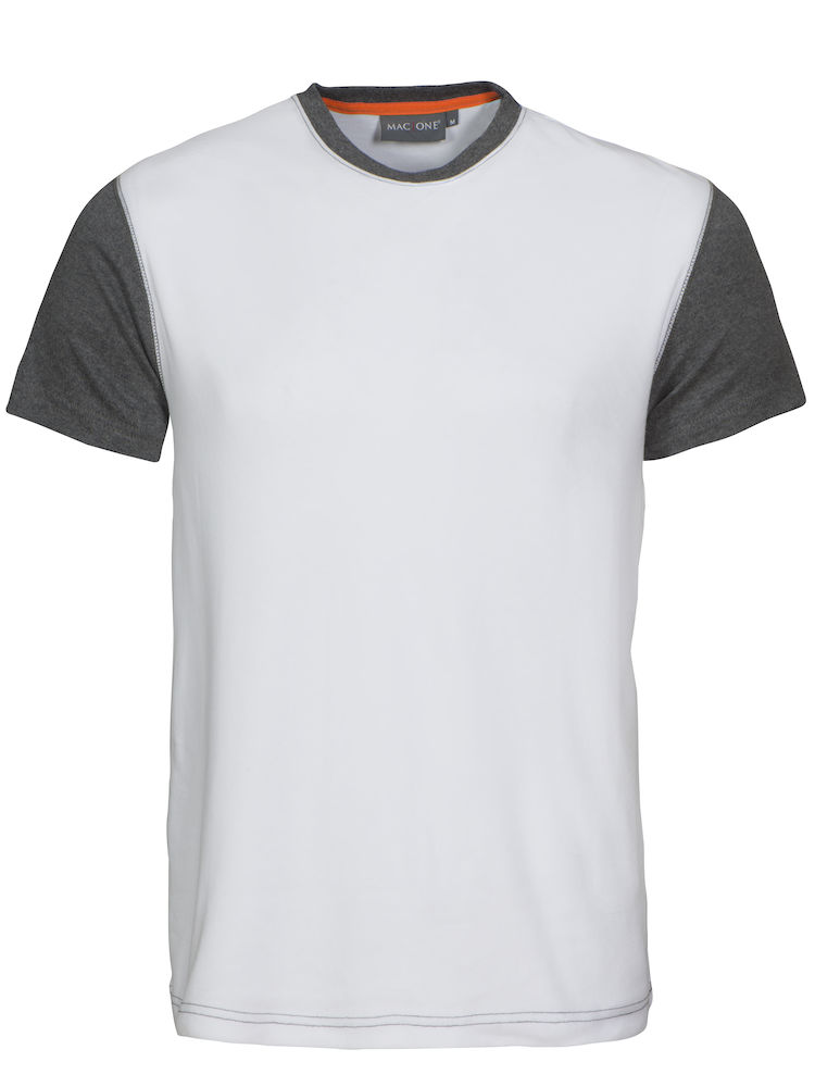 Joey T-shirt white/Grey melange XS