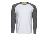 Alex T-shirt white/Grey melange XS