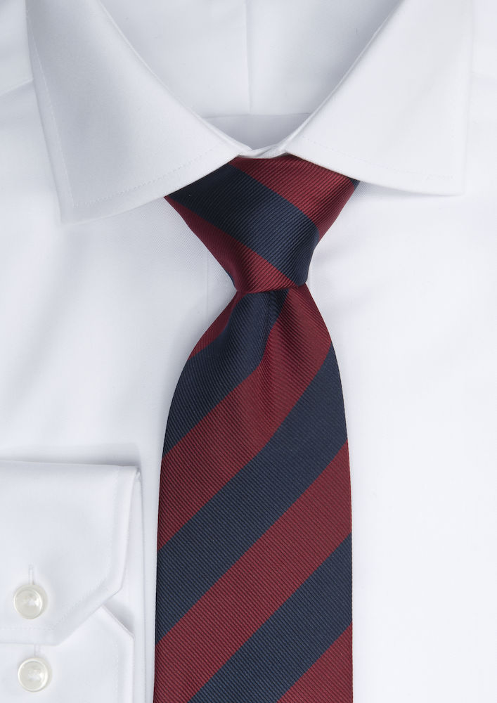Tie regimental stripe Navy/Wine ONE