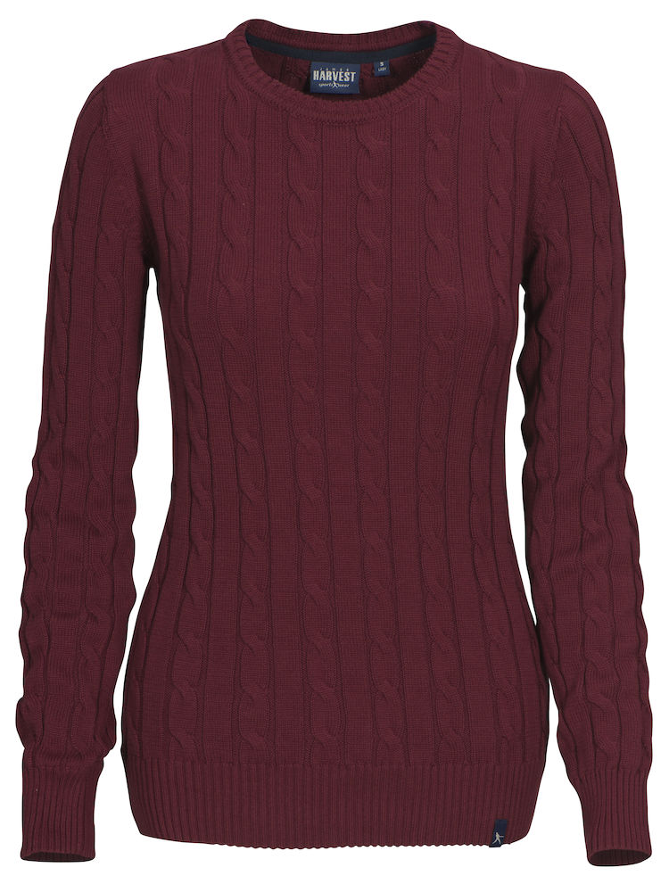 Treadville Lady Pullover Burgundy Red L