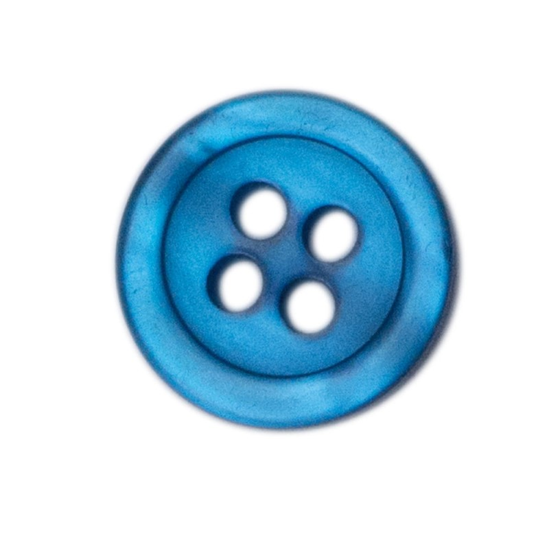 Shirt Button Large 10-pack ocean blue