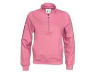 Cottover Half Zip Unisex roze M
