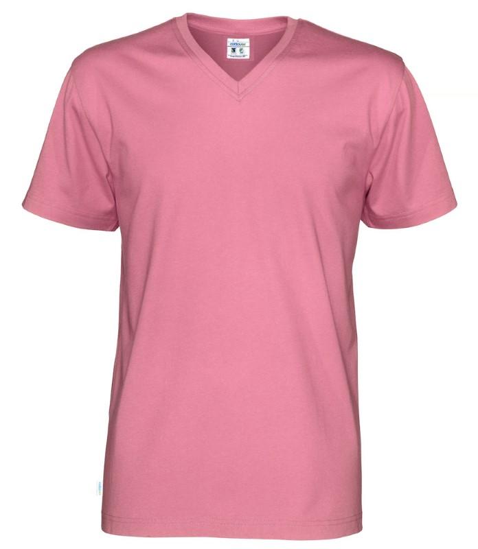 Cottover T-shirt SS V-neck Man roze XL