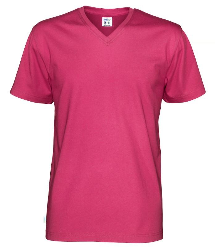 Cottover T-shirt SS V-neck Man fuchsia L