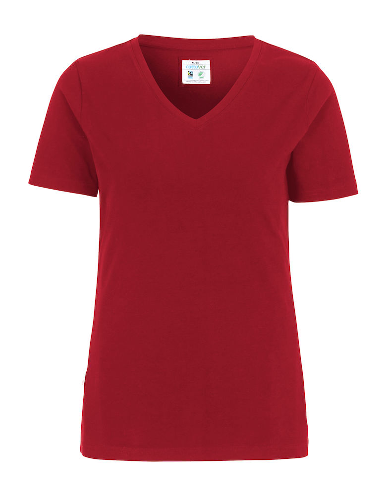 Cottover Stretch T-shirt Lady rood L