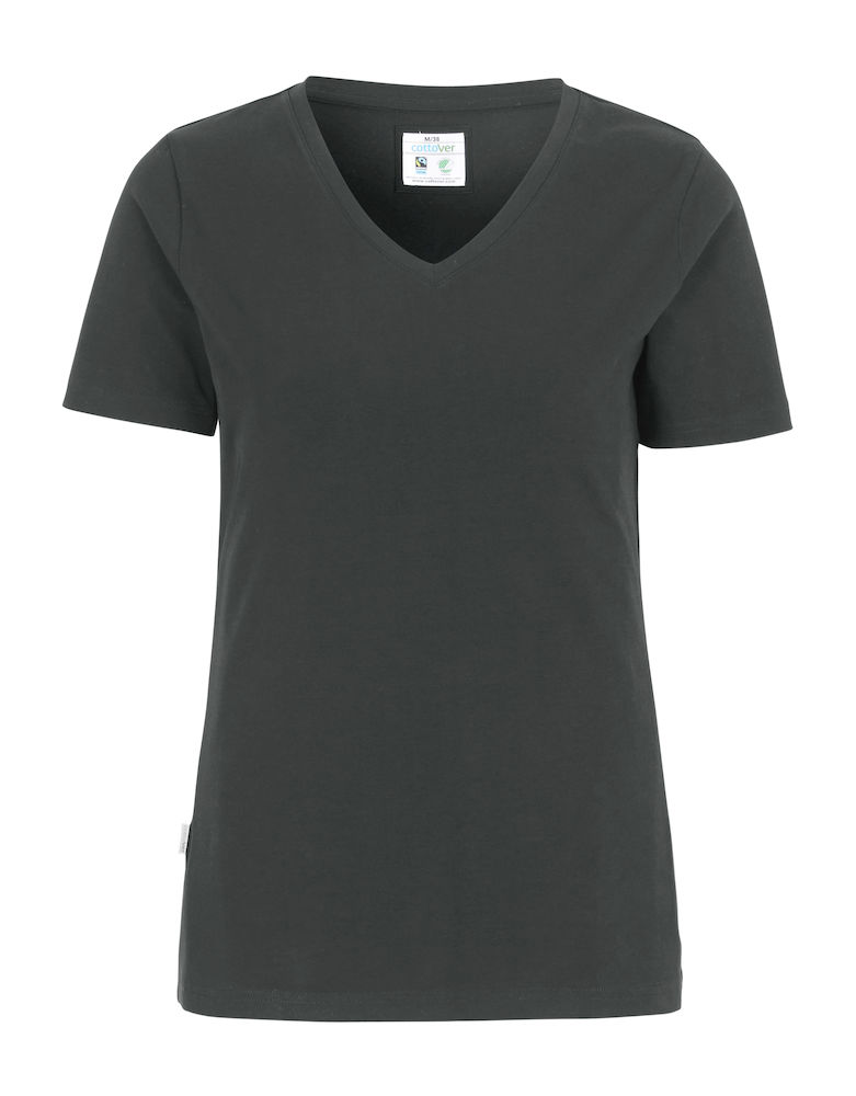 Cottover Stretch T-shirt Lady donkergrijs XXL