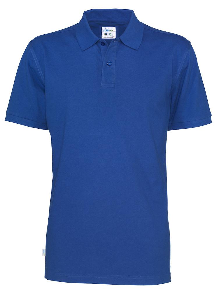 Cottover Pique SS Man blauw 4XL