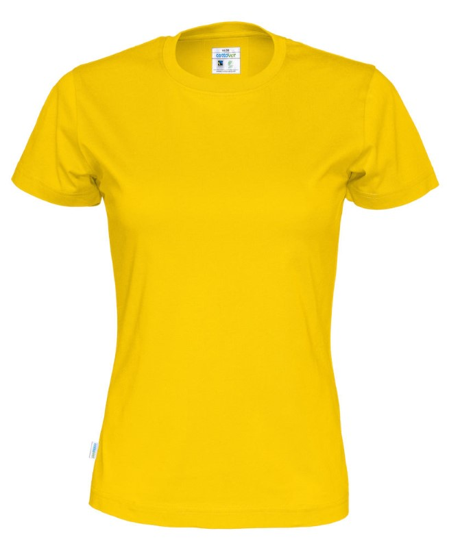 Cottover T-shirt Lady geel XXL