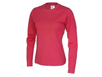 Cottover T-shirt Long Sleeve Lady rood S