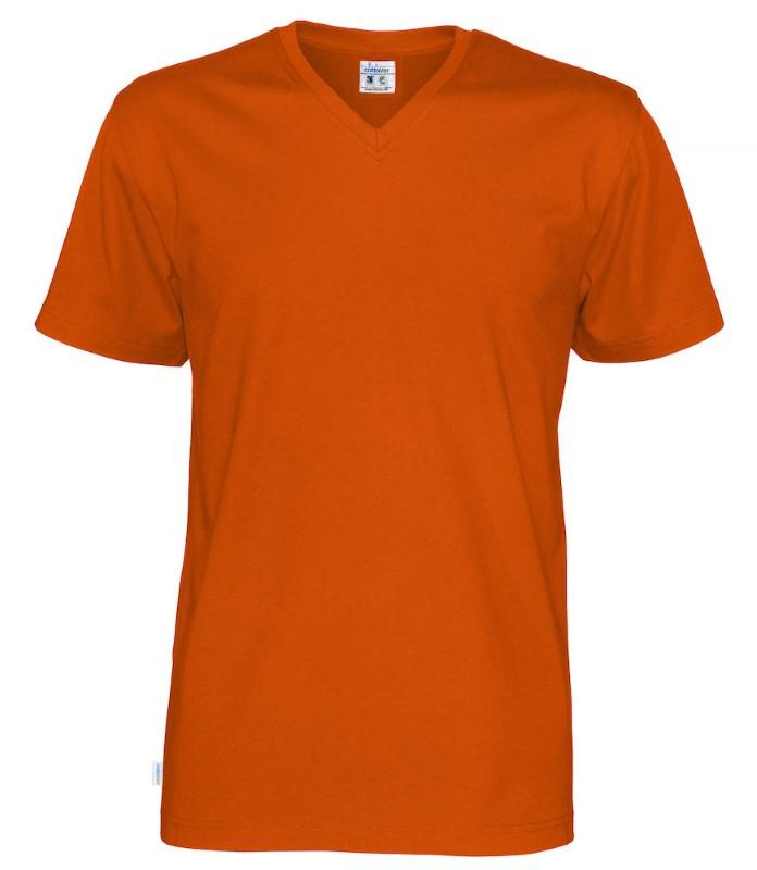 Cottover T-shirt SS V-neck Man oranje 3XL