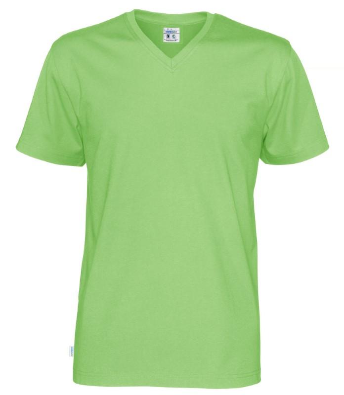 Cottover T-shirt SS V-neck Man groen S